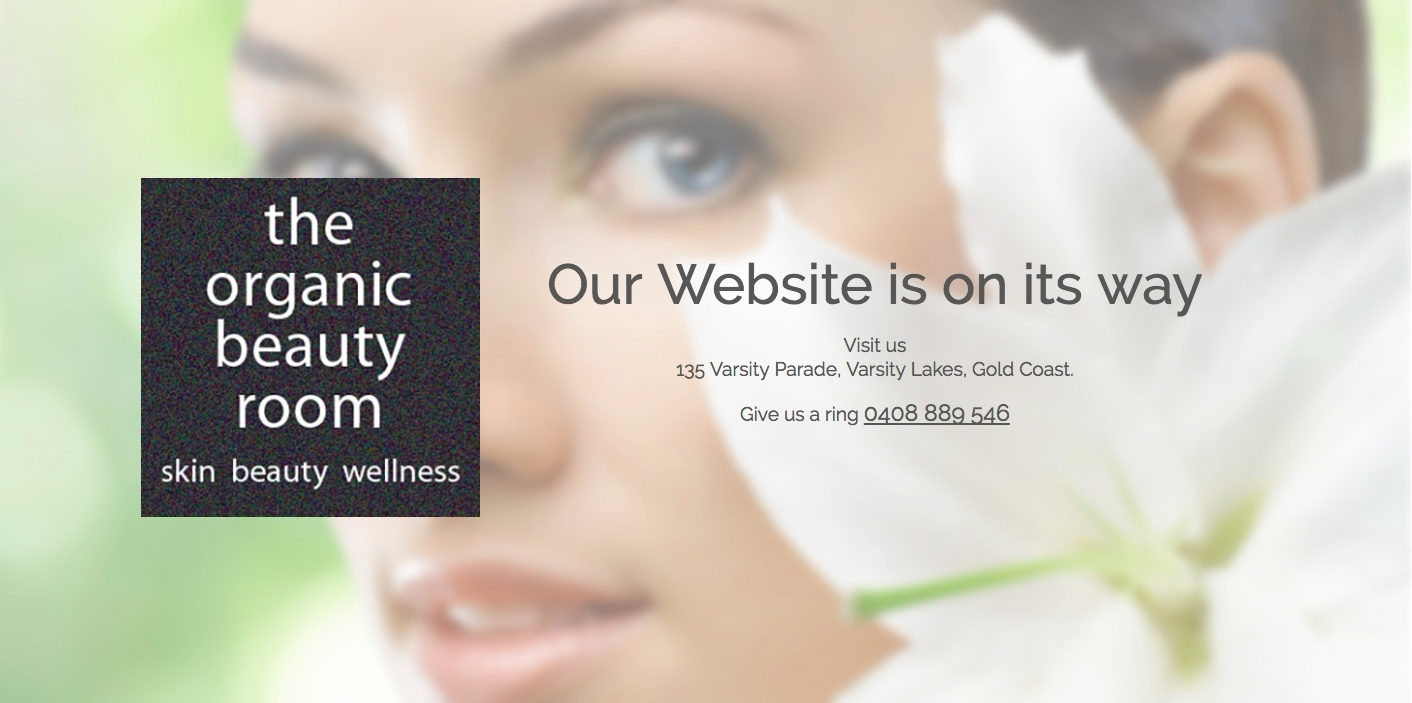 The Organic Beauty Room Landing Page Design